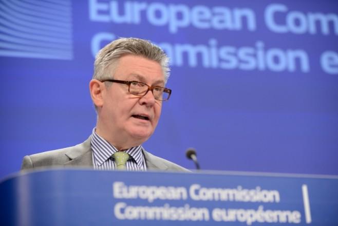 EU-commissaris De Gucht. Foto: Credit © European Union, 2014.